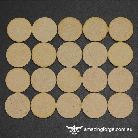 27mm Round Bases (qty 20)