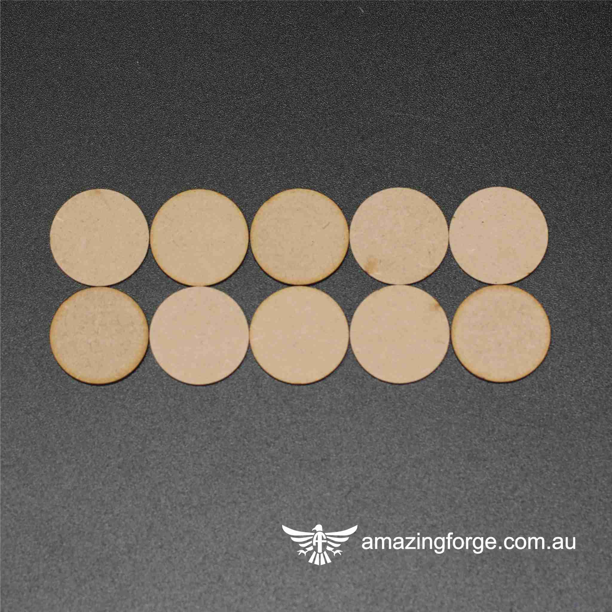 55mm Round Bases (qty 10)