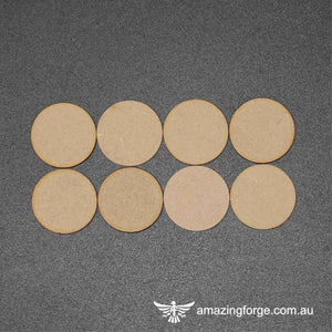60mm Round Bases (qty 8)