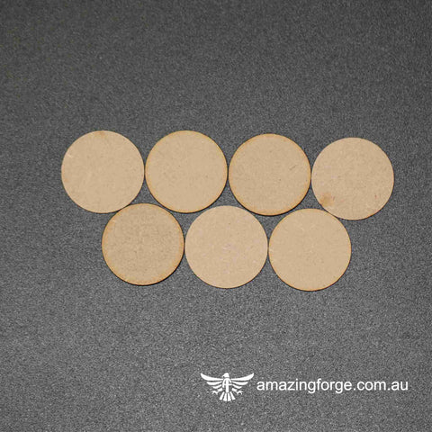 65mm Round Bases (qty 7)