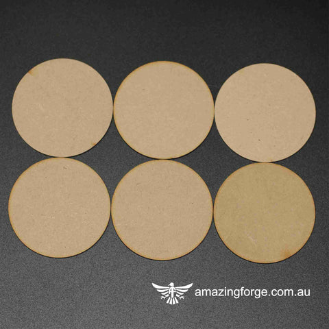 70mm Round Bases (qty 6)