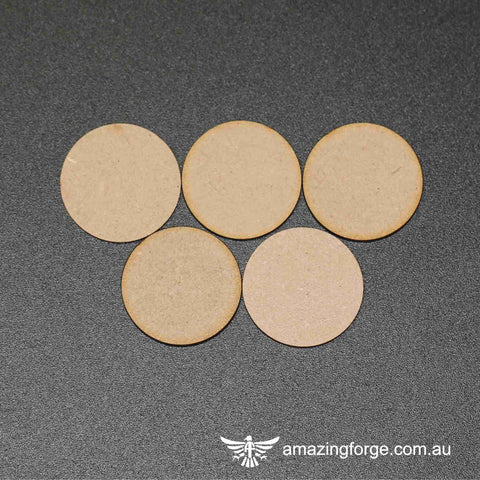 80mm Round Bases (qty 5)