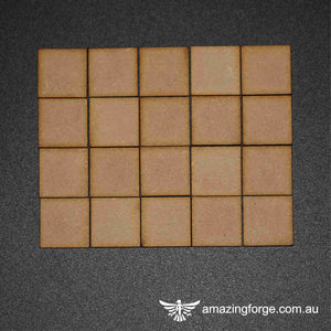 20mm Square Bases (qty 20)