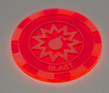 Malifaux compatible blast tokens (Qty 5)