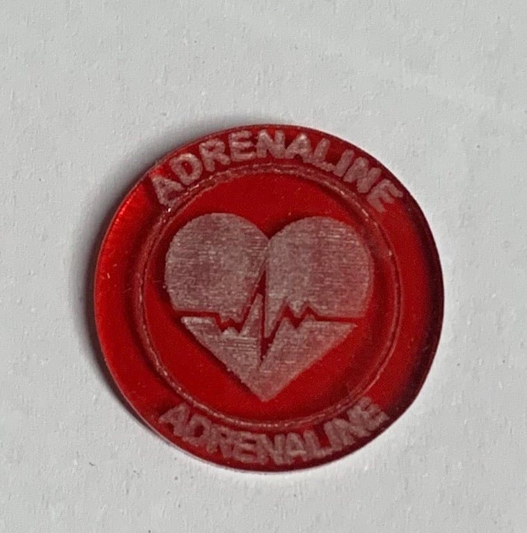Malifaux compatible adrenaline tokens (Qty 5)