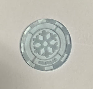 Malifaux compatible ice pillar tokens (Qty 5)