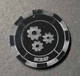 Malifaux compatible scrap tokens (Qty 5)