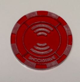 Malifaux compatible shockwave tokens (Qty 5)