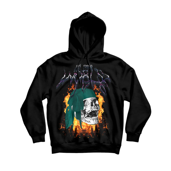 SKI MEETS WORLD SUMMONING HOODIE - BLACK