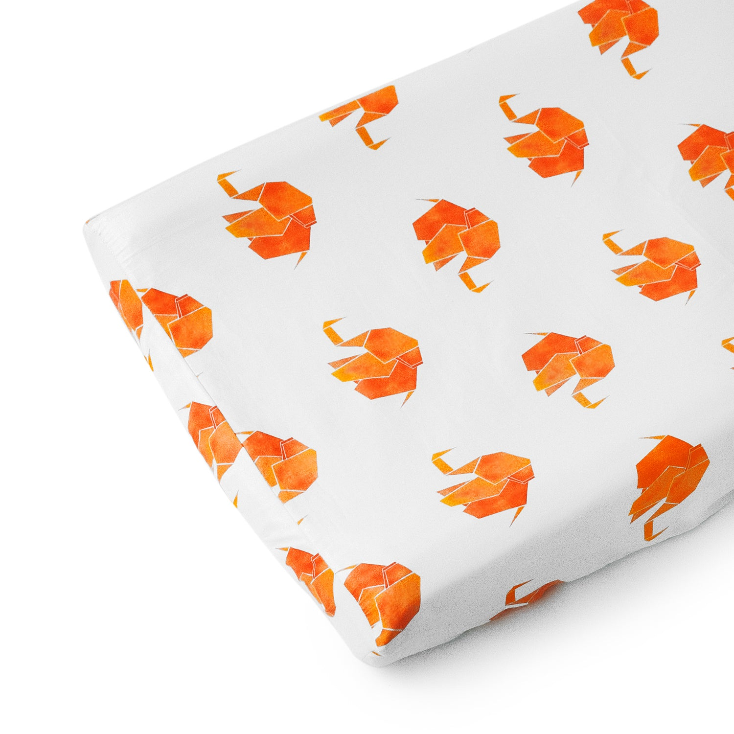 Origami Elephant Changing Pad Cover