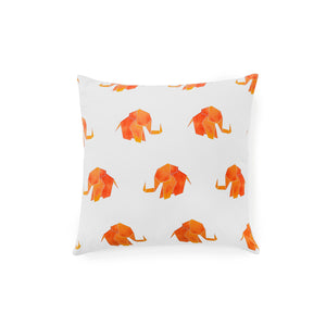 "Origami Elephant 16"" Pillow Cover"
