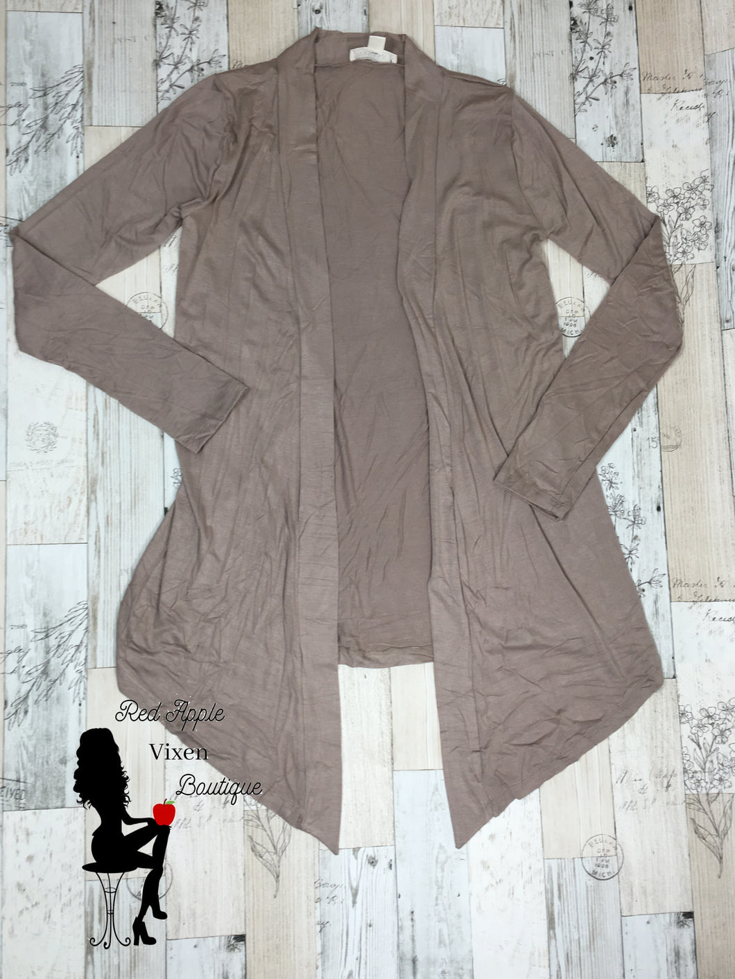 Drapey Long Sleeve Cardigan in Ash Mocha