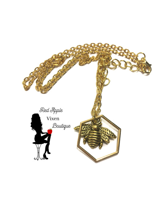 Bee Necklace - Red Apple Vixen Boutique