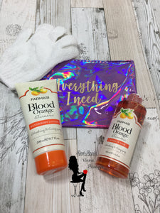 Blood Orange and Turmeric Body Wash and Lotion Bundle