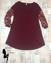 Load image into Gallery viewer, Animal Print Swing Dress - Red Apple Vixen Boutique