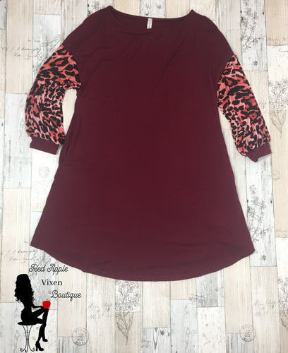 Animal Print Swing Dress - Sassy Chick Clothing