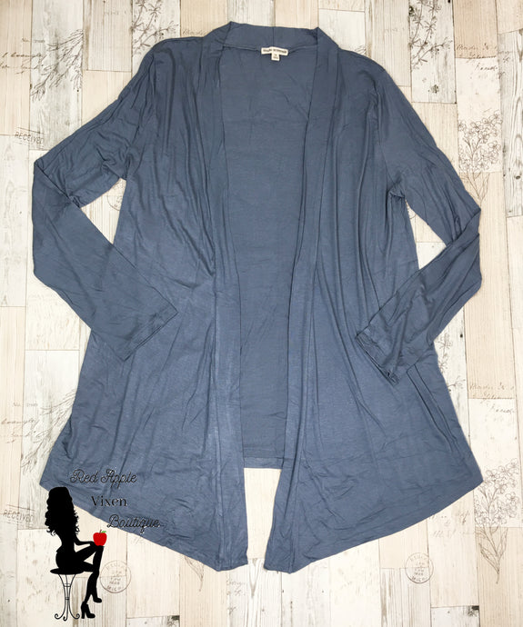Drapey Long Sleeve Cardigan Cement