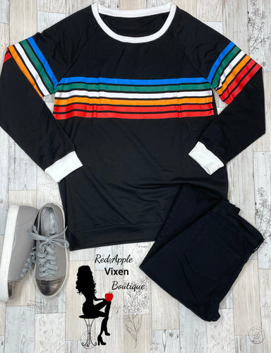 Multi Color Striped Sweatshirt