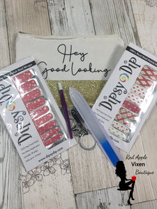 Dipsy Dip Holiday Bundle-- When you Wish and Giftwrap Nail Wraps