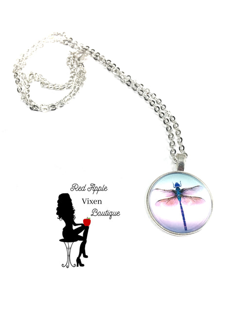 Dragonfly Pendent Necklace - Red Apple Vixen Boutique