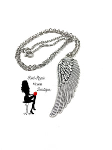 Angel Wing Pendant Necklace - Sassy Chick Clothing