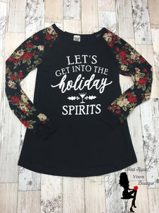 Let's get into the Holiday Spirits Tunic - Sassy Chick Clothing