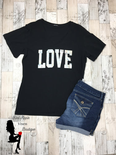 Holographic Love Tee - Red Apple Vixen Boutique