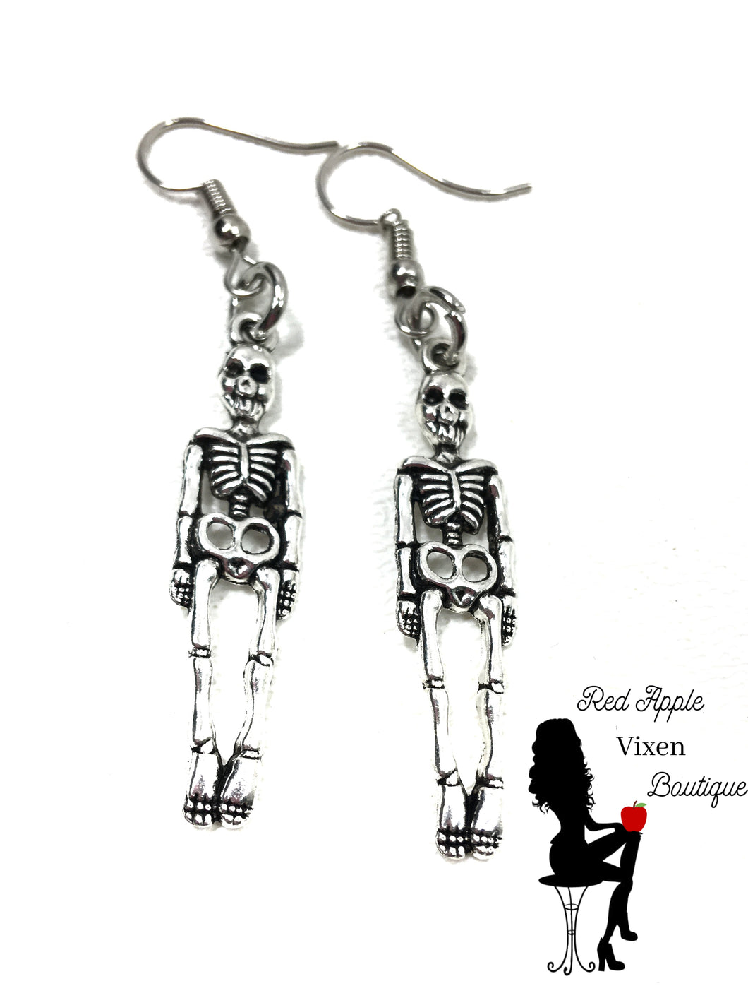 Skeleton Dangle Earrings - Red Apple Vixen Boutique