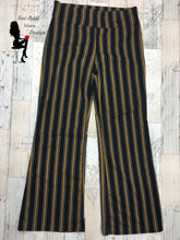 Load image into Gallery viewer, Black and Gold Striped Pants - Red Apple Vixen Boutique