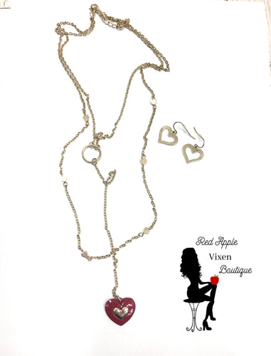 Heart Pendant Necklace - Sassy Chick Clothing