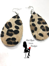Load image into Gallery viewer, Fuzzy Animal Print Earrings - Sassy Chick Clothing