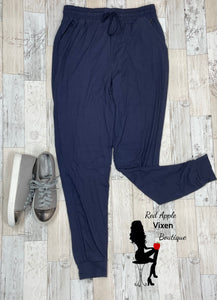 Plus Size Navy Joggers