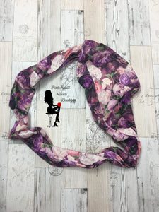 Flower Print Infinity Scarves - Sassy Chick Clothing