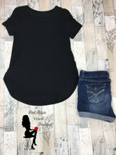 Load image into Gallery viewer, Solid Short Sleeve Round Hem Tunic Top - Sassy Chick Clothing