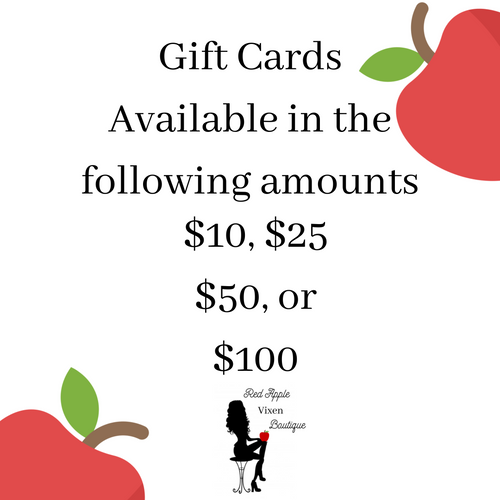 Red Apple Vixen Gift Card - Sassy Chick Clothing