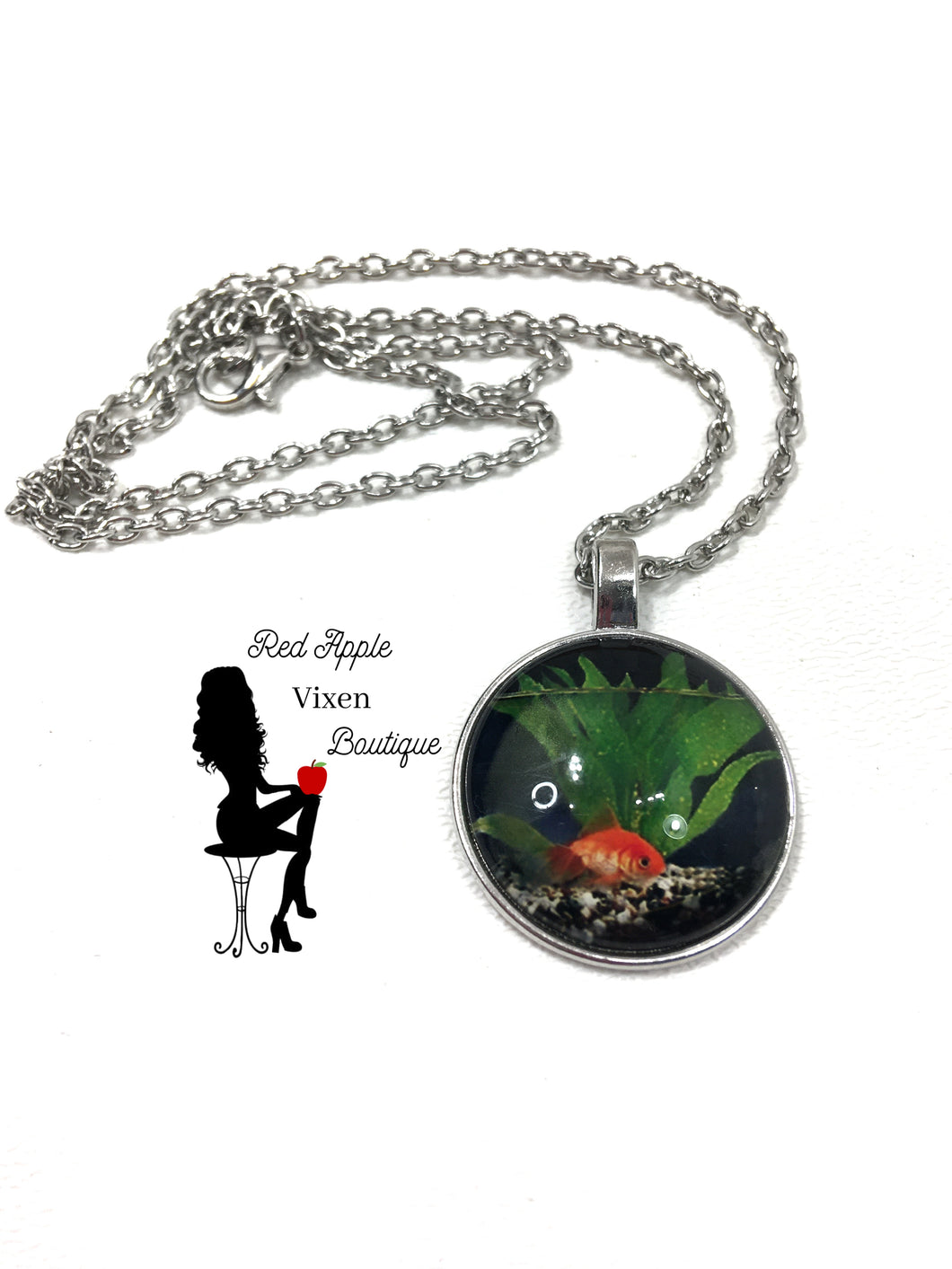 Goldfish Pendent Necklace - Sassy Chick Clothing