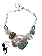 Load image into Gallery viewer, Green Geometric Choker Necklace