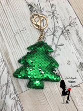 Load image into Gallery viewer, Sequin Christmas Tree Key Ring - Sassy Chick Clothing