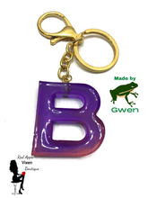 Load image into Gallery viewer, Letter B Resin Key Chain