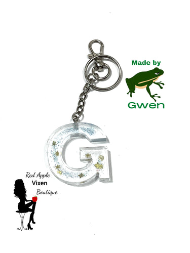 Letter G Resin Key Chain