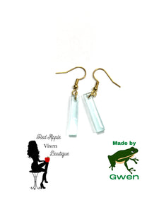 Light Blue Translucent Rod Dangle Earrings - Sassy Chick Clothing