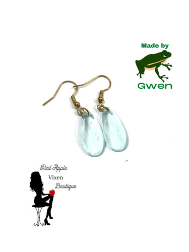 Light Blue Transparent Teardrop Earrings Light Blue