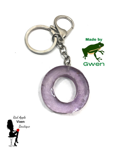 Letter O Resin Key Chain