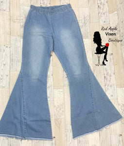 Light Wash Denim Bell Bottoms