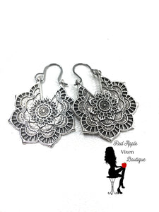 Mandala Drop Earrings - Sassy Chick Clothing