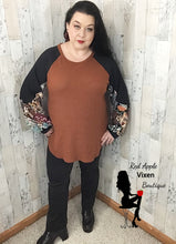 Load image into Gallery viewer, Boho Print Raglan Bubble Sleeve Top