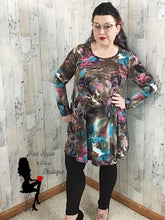 Load image into Gallery viewer, Brown Teal and Pink Tie Dye Dress - Sassy Chick Clothing