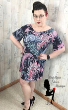 Load image into Gallery viewer, Off Shoulder Paisley Print Dress - Red Apple Vixen Boutique