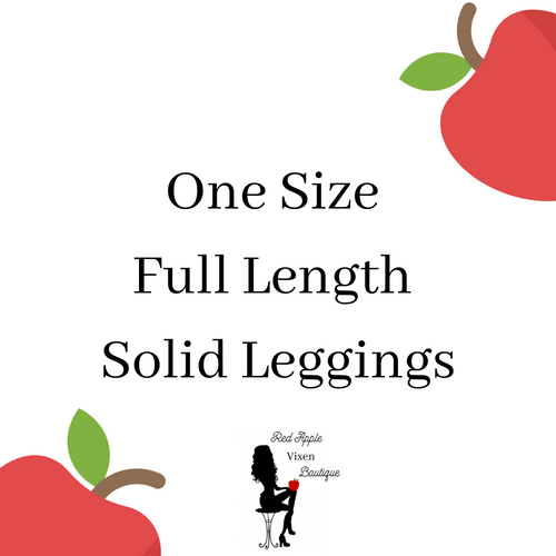 Solid Color One Size Leggings - Sassy Chick Clothing