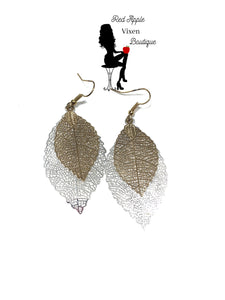 Cut Out Leaf Earrings - Sassy Chick Clothing